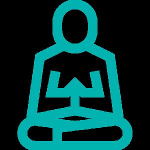 icone méditation silouhette