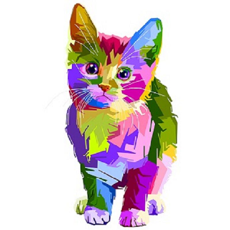 Dessin graphique chaton